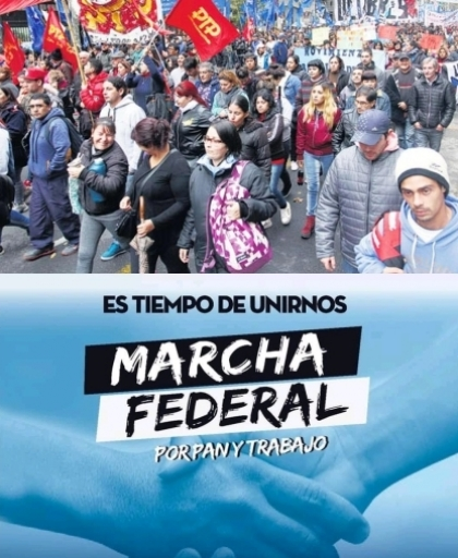 Larga marcha federal por pan y trabajo