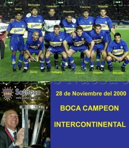 Boca Juniors Campeón de la Copa Intercontinental 2000
